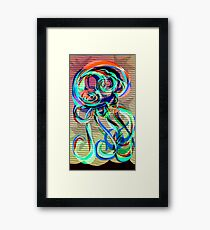 Squid No. 8 - It's Curtains For You Framed Print