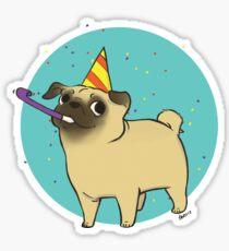 Party Pug Sticker