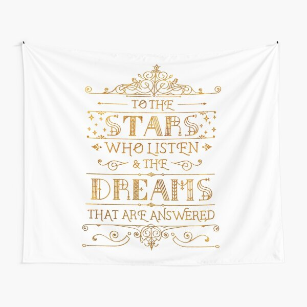 To the stars who listen - white Tapestry