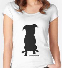 IncrediBullStella - Black Silhoutte  Women's Fitted Scoop T-Shirt