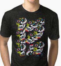 """Skulls"" hand painted   Tri-blend T-Shirt"