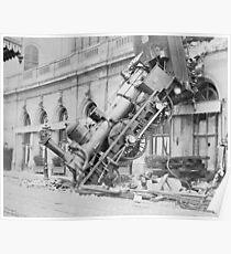 Train Wreck At Montparnasse Station  Poster
