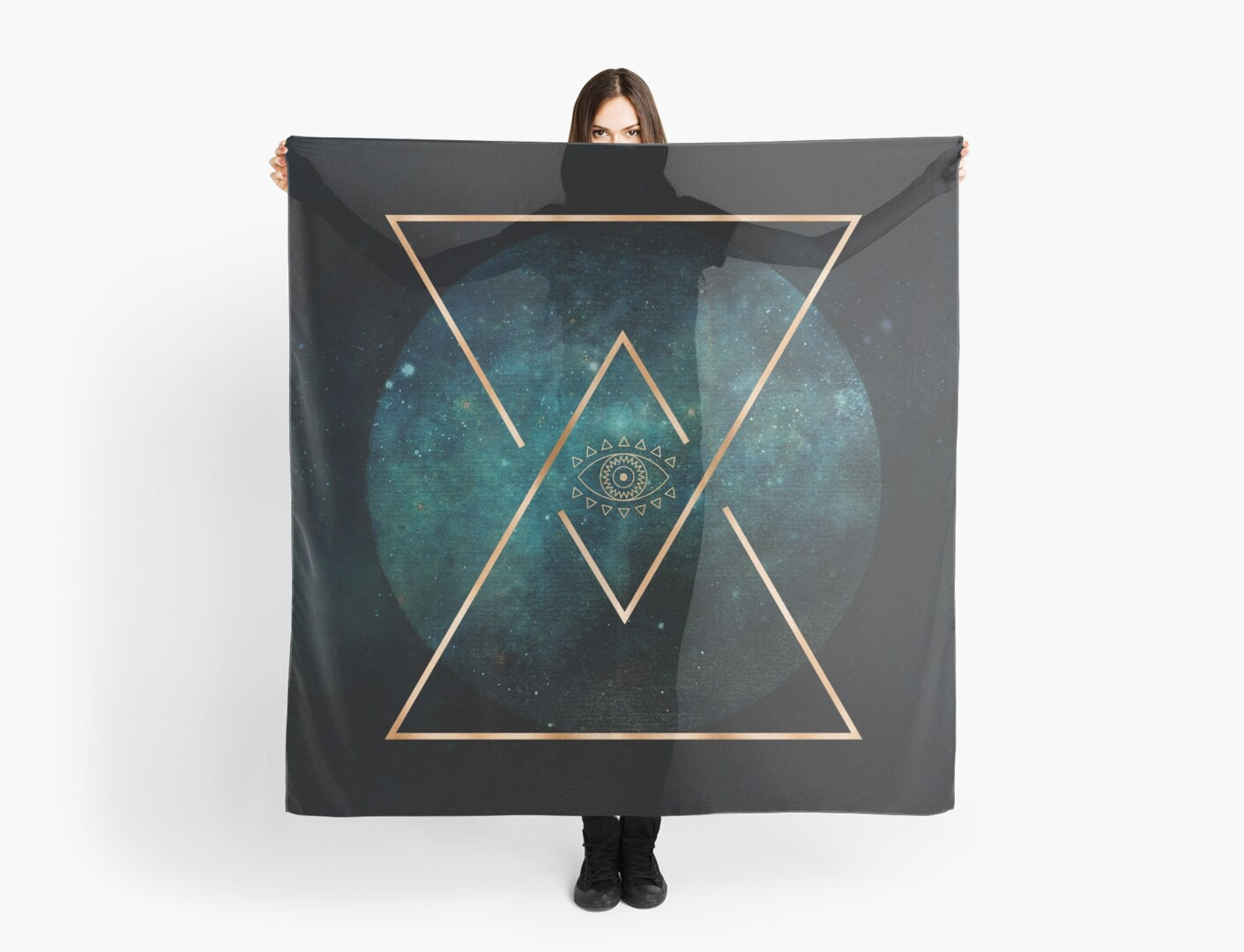 « Eye Moon Gold Geometric Tribal Bohemian Mandala » par naturemagick