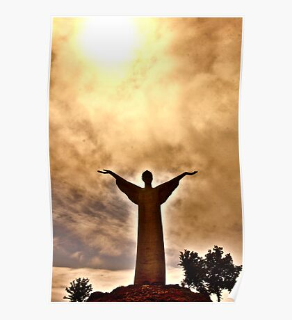 Christ the Redeemer Statue, Maratea, Italy Poster