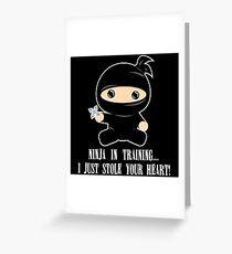 Lil Ninja in Training Greeting Card