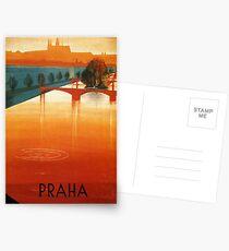 Vintage poster Prague Postcards