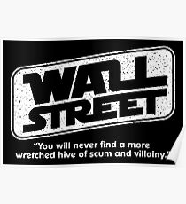Star Wars Wall Street Wretched Hive Parody Poster