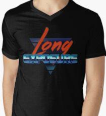 80s long exposure logo Men's V-Neck T-Shirt