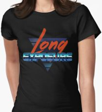 80s long exposure logo Women's Fitted T-Shirt