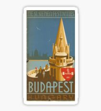 Budapest vintage poster sticker Sticker