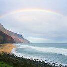 Kalalau Beach Kauai  by kevin smith  skystudiohawaii