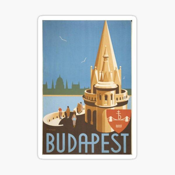 Budapest vintage sticker Sticker