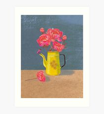 Yellow kettle filled with love Art Print
