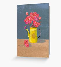 Yellow kettle filled with love Greeting Card