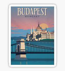Budapest vintage poster, sticker, mug Sticker