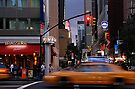 New York Taxi Cabs at Dusk by Gerda Grice
