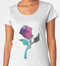 Stained Glass Rose Galaxy Women's Premium T-Shirt