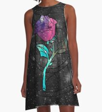 Vestido acampanado Vitral Rose Galaxy