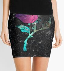 Stained Glass Rose Galaxy Mini Skirt