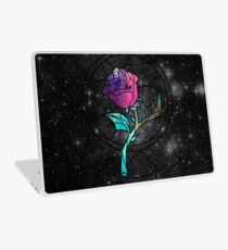 Stained Glass Rose Galaxy Laptop Skin