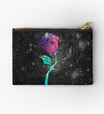 Stained Glass Rose Galaxy Studio Pouch