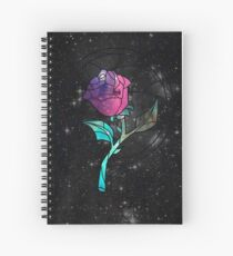 Stained Glass Rose Galaxy Spiral Notebook