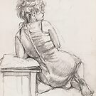 Seated girl by Fiona O'Beirne