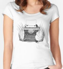 "He could only type ""QUACK""! Women's Fitted Scoop T-Shirt"