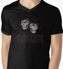 Gray Drama Mask Men's V-Neck T-Shirt