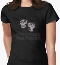 Gray Drama Mask Women's Fitted T-Shirt