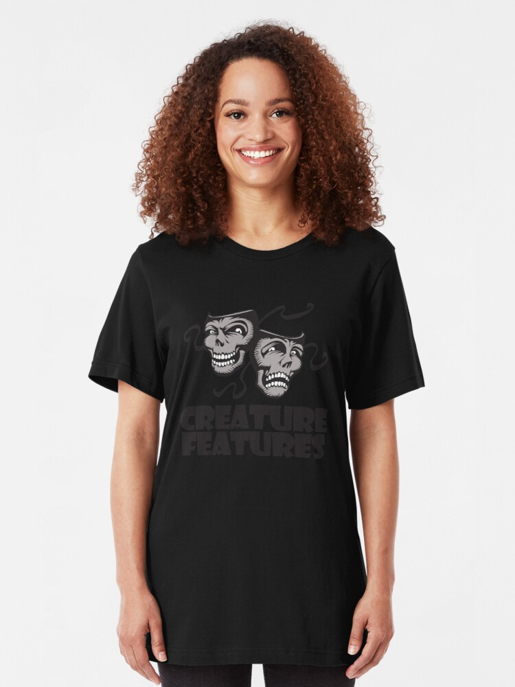 Alternate view of Gray Drama Mask Slim Fit T-Shirt