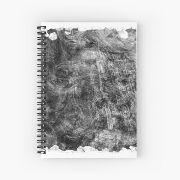 The Atlas of Dreams - Plate 26 (b&w) Spiral Notebook