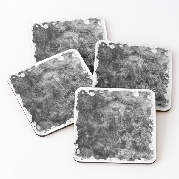 The Atlas of Dreams - Plate 26 (b&w) Coasters (Set of 4)