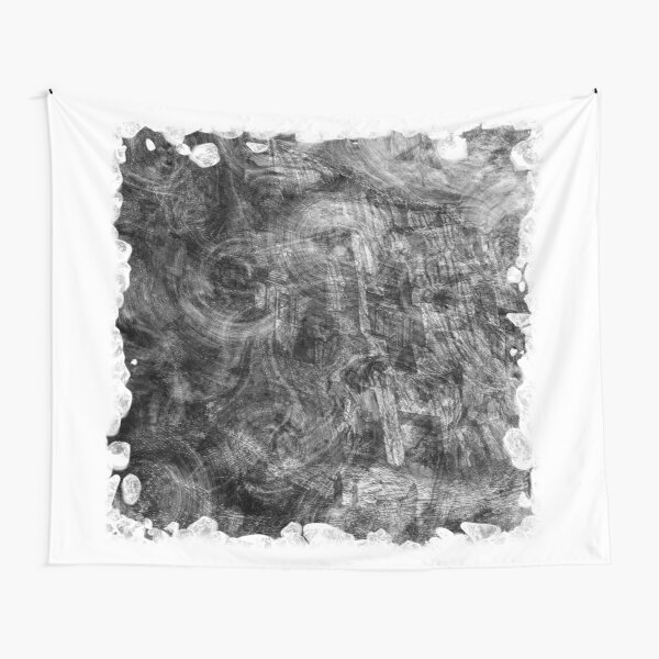 The Atlas of Dreams - Plate 26 (b&w) Tapestry