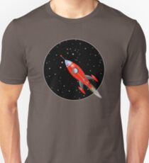 Rocket ship with stars  Unisex T-Shirt