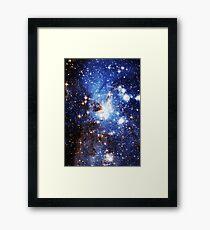 Blue Galaxy 3.0 Framed Print