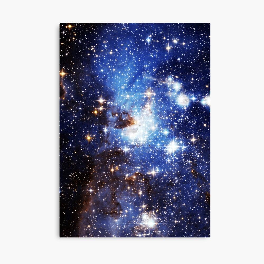 Blaue Galaxie 3.0 Leinwanddruck