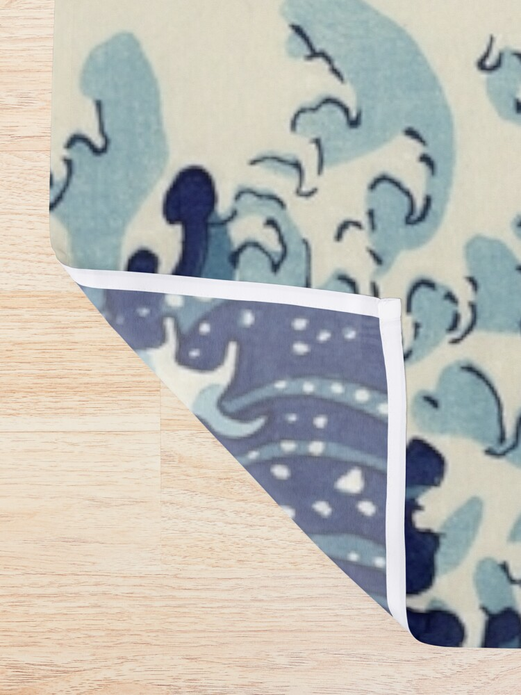 Alternate view of Great Wave Shower Curtain
