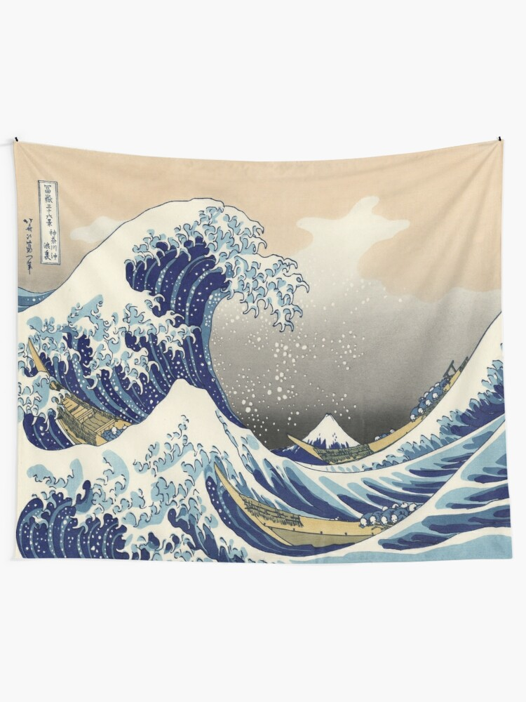 Alternate view of Great Wave Tapestry
