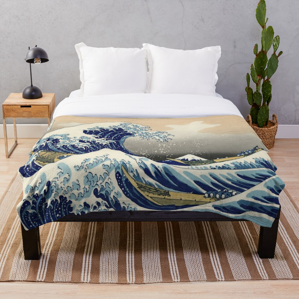 Great Wave Throw Blanket