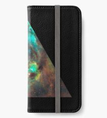 Green Galaxy Triangle iPhone Wallet/Case/Skin