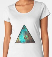 Green Galaxy Triangle Women's Premium T-Shirt
