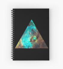 Green Galaxy Triangle Spiral Notebook