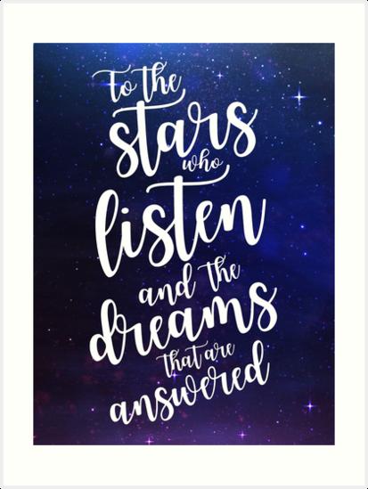 Láminas artísticas «Para las estrellas que escuchan y los sueños que ...