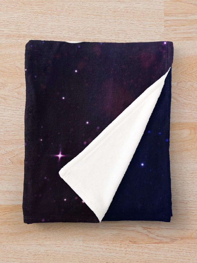 Alternate view of To the stars who listen and the dreams that are answered Throw Blanket