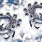 Scythian Ink Deer by Sheridon Rayment
