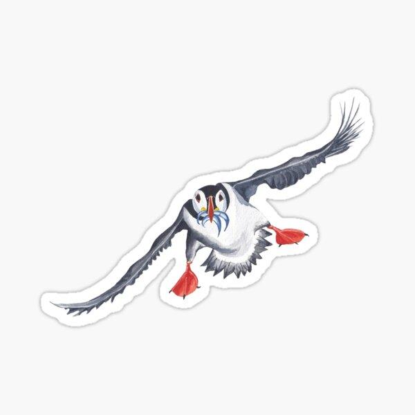 flying puffin Sticker