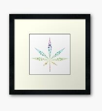 Marijuana weed hemp plant drugs green herb Framed Print