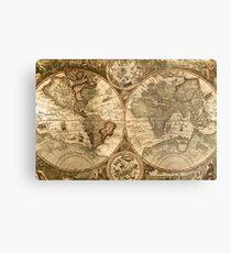 Ancient Map Metal Print