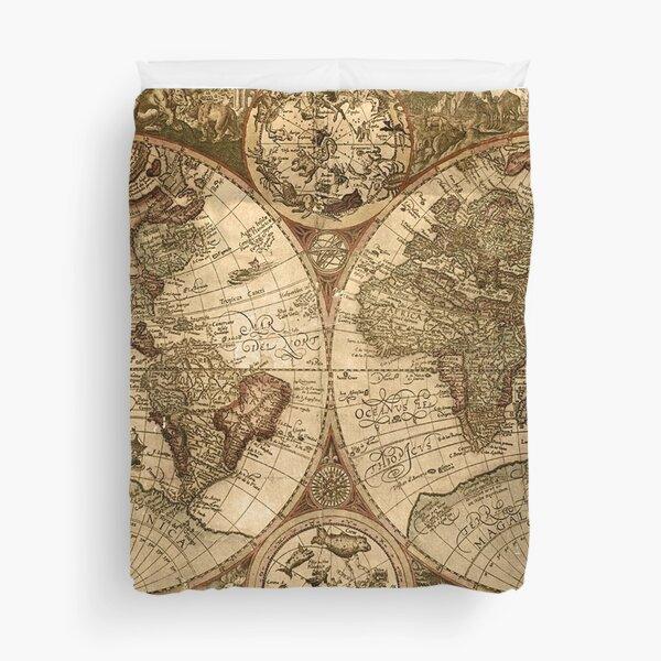 Ancient Map Duvet Cover
